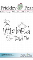 A Little Bird with Birds - Red Rubber Stamp