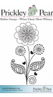 Graphic Flower - Red Rubber Stamp