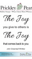 The Joy - Red Rubber Stamp