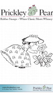 Little Girl With Rose - Red Rubber Stamps