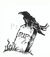 Crow on Tombstone