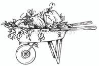 Wheelbarrow Full of Pumpkins