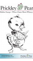 Duck with Bib, Sml. - Red Rubber Stamp