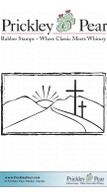 Crosses on a Hilltop - Red Rubber Stamp