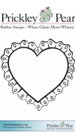 Ruffle Heart - Red Rubber Stamp