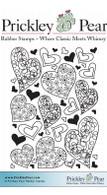 Hearts ATC - Red Rubber Stamp