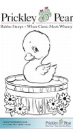 Duck in Tub - Red Rubber Stamp