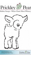 Lamb - Red Rubber Stamp