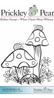 Ladybug & Mushrooms, Sm. - Red Rubber Stamp