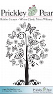 Butterfly Tree - Red Rubber Stamp