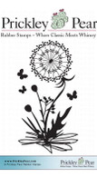 Butterflies & Dandelions - Red Rubber Stamp