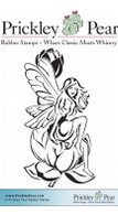 Fairy on Lotus - Red Rubber Stamp