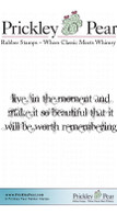 Live in the Moment - Red Rubber Stamp