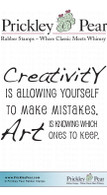 Creativity - Red Rubber Stamp