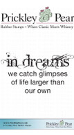 In Dreams - Red Rubber Stamp