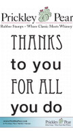 Thanks to You - Red Rubber Stamp