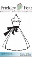 Dress Bodice - Red Rubber Stamp