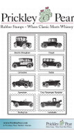 Vintage Cars ATC - Red Rubber Stamp