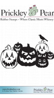 Jack O' Lanterns - Red Rubber Stamp