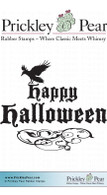 Crows Halloween - Red Rubber Stamp