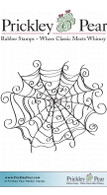 Curly Spiderweb - Red Rubber Stamp