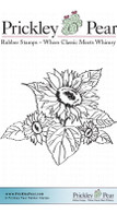 Fall Sunflowers - Red Rubber Stamp