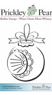 German Ornament, Sm. - Red Rubber Stamp