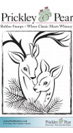 Reindeer Couple - Red Rubber Stamp