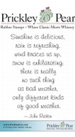 Sunshine is Delicious - Red Rubber Stamp