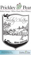 Holiday Chaiteau - Red Rubber Stamp