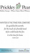 Winter is the Time - Red Rubber Stamp