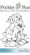 Puppy with Mail - Red Rubber Stamp