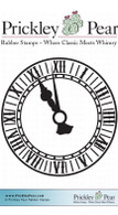 Clock Face - Red Rubber Stamp