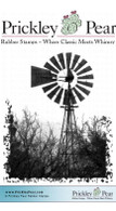 Windmill - Red Rubber Stamp