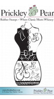 50's Bodice - Red Rubber Stamp
