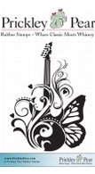 Flourished Guitar - Red Rubber Stamp