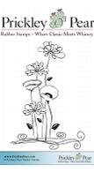Wildflower Garden - Red Rubber Stamp