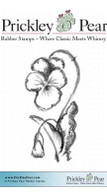 Wild Pansy - Red Rubber Stamp