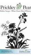 Flower Silhouettes - Red Rubber Stamp