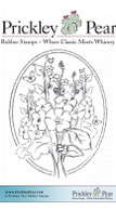Dogwood in Oval - Red Rubber Stamp