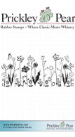 Floral Garden - Red Rubber Stamp
