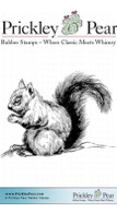 Sketched Squirrel - Red Rubber Stamp