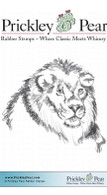 Lion - Red Rubber Stamp