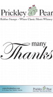 Many Thanks - Red Rubber Stamp