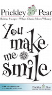 You Make Me Smile - Red Rubber Stamp