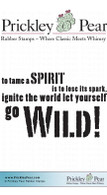 Go Wild - Red Rubber Stamp