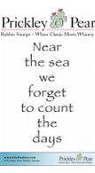 Near the Sea - Red Rubber Stamp