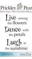 Live, Dance, Laugh - Red Rubber Stamp