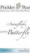 Winters Butterfly - Red Rubber Stamp