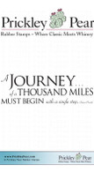 A Journey - Red Rubber Stamp